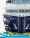 Yacht w/water Mockup - Front View