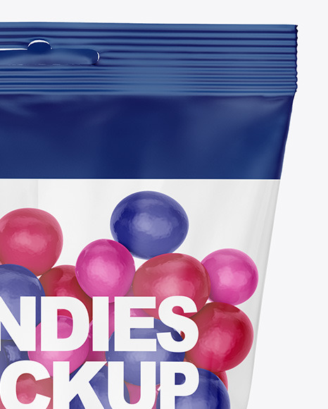Bag With Candies Mockup