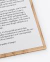 Wooden Clipboard W/ A4 Paper Mockup