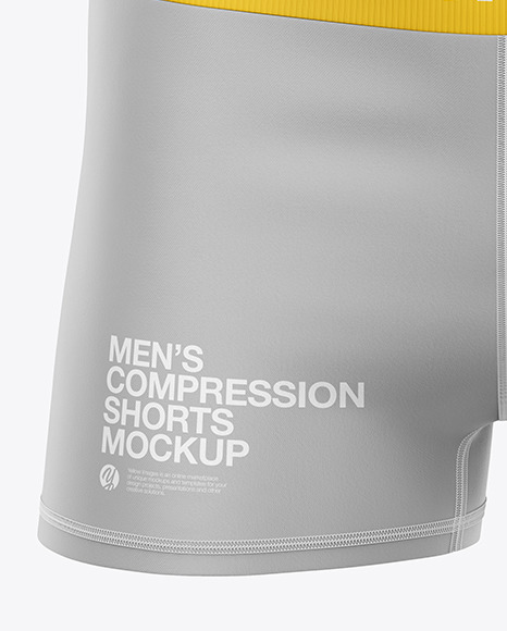 Men's Compression Shorts Mockup