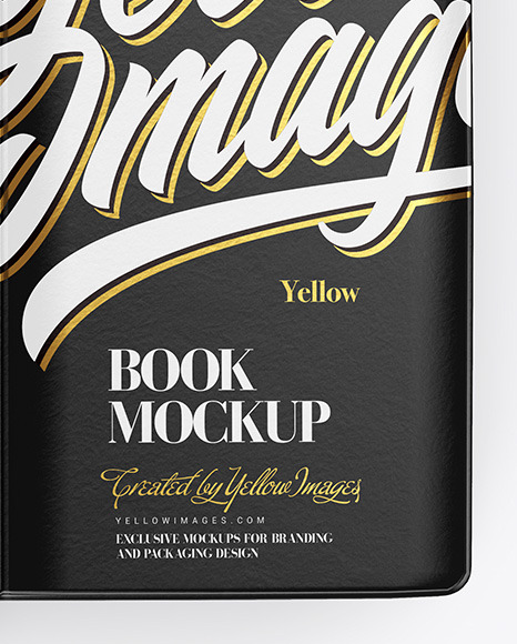 Download Book Mockup In Stationery Mockups On Yellow Images Object Mockups PSD Mockup Templates