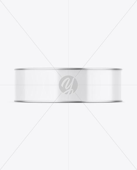 Metallic Can W/ Glossy Label Mockup