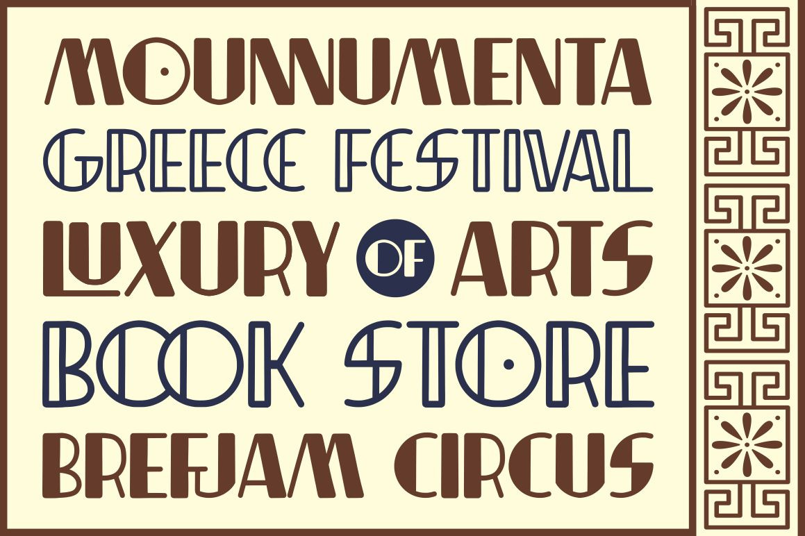 Indentia - Art Deco Typeface