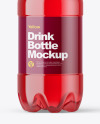 PET Bottle with Cherry Juice Mockup
