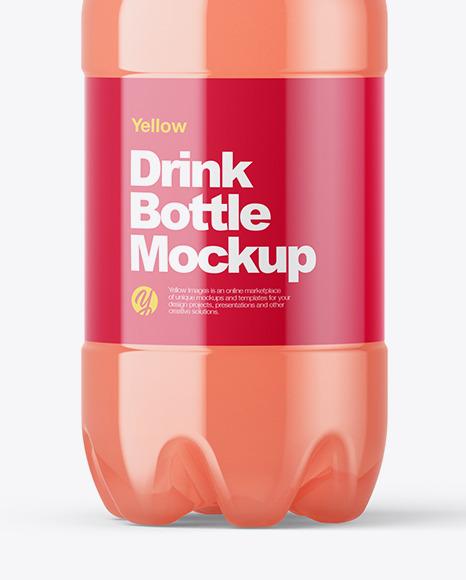 PET Bottle with Grape  Juice Mockup