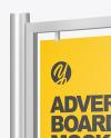Advertising Board Mockup - Half Side View