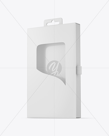 Paper Box with Window Mockup