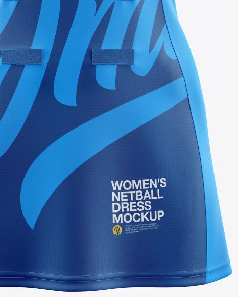 Women's Netball Dress Mockup