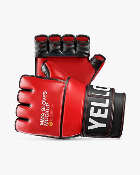 Two MMA Gloves Mockup