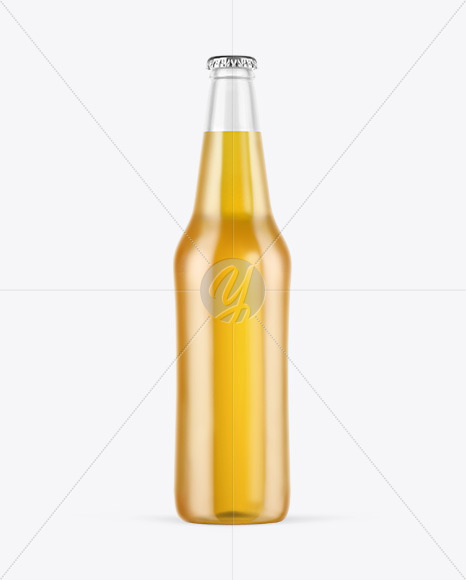 Download Amber Glass Bottle With Lager Beer Mockup PSD - Free PSD Mockup Templates