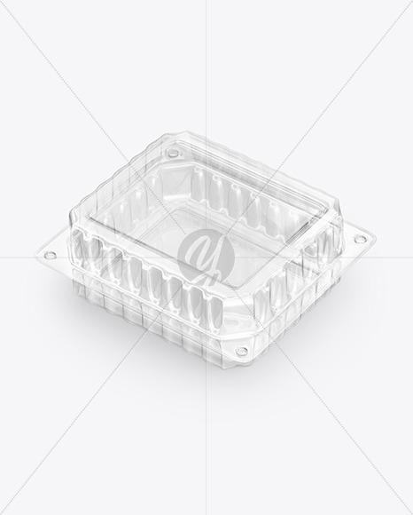 Transparent Food Tray Mockup