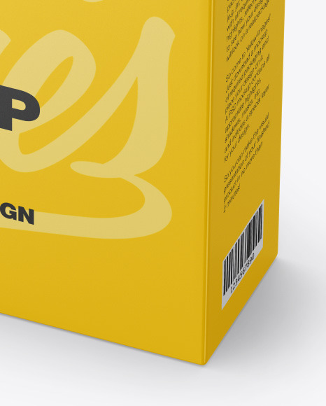 Matte Box Mockup In Box Mockups On Yellow Images Object Mockups