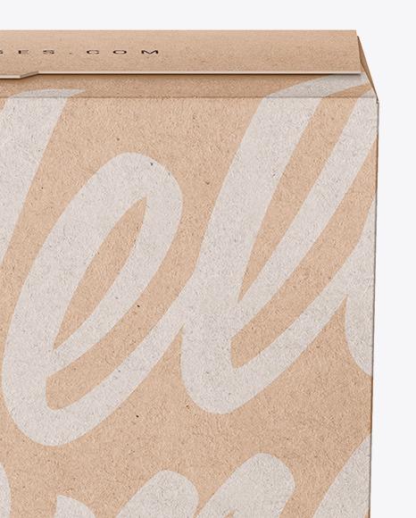 Kraft Box with Farfalline Mockup - Front View