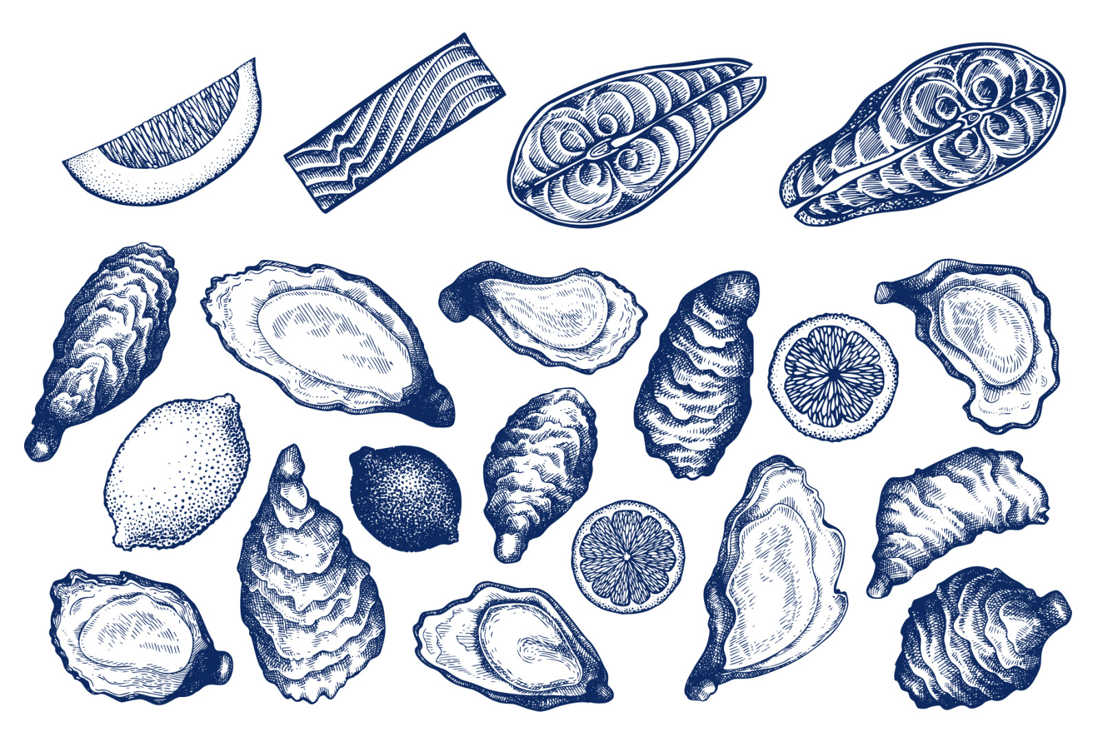 Seafood Vector Collection #2