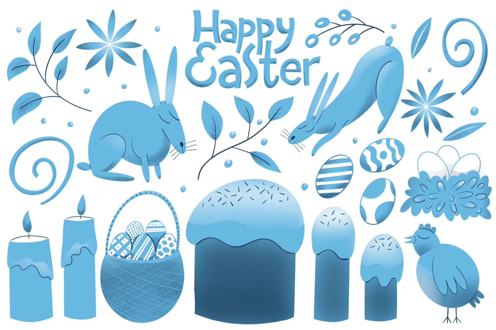 Cute Easter Raster Collection