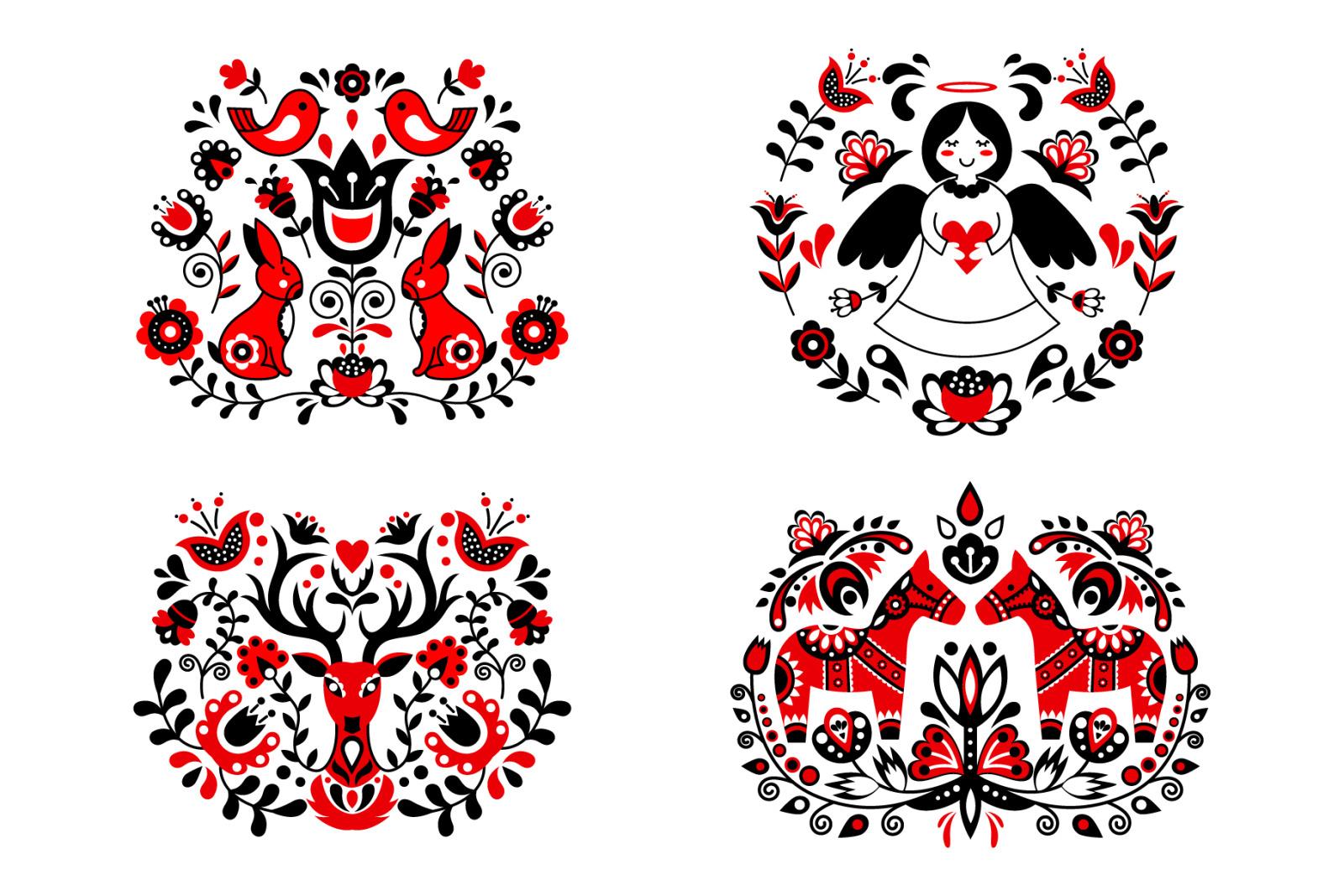 Scandinavian folk art collections