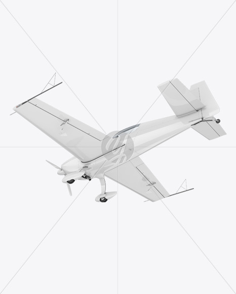 Sport Airplane Mockup - Half Side View (Bottom) - Yellowimages Mockups