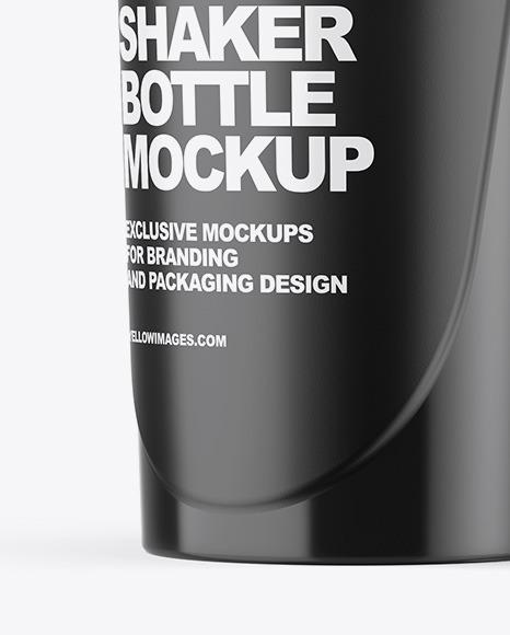 Shaker Bottle Mockup In Bottle Mockups On Yellow Images Object Mockups