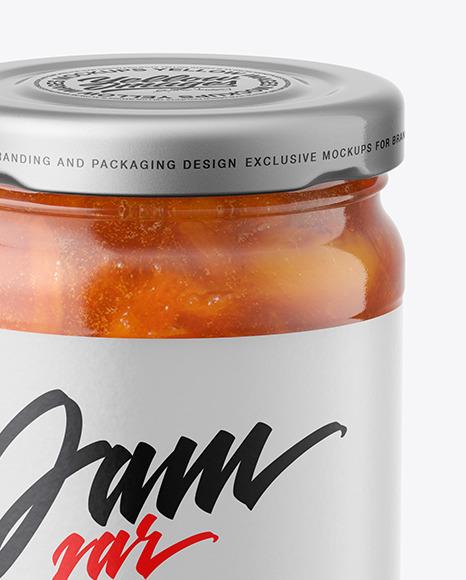 Apricot Jam Jar Mockup