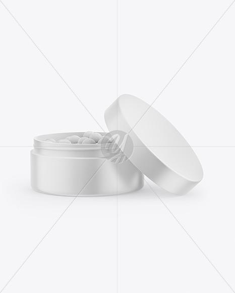 Matte Jar with Blush Mockup
