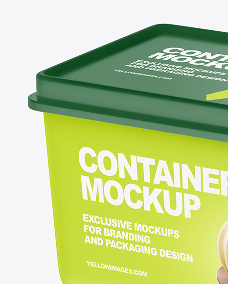 Matte Plastic Container Mockup