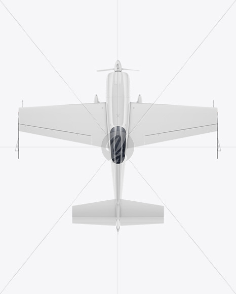 Sport Airplane Mockup - Top View - Yellowimages Mockups