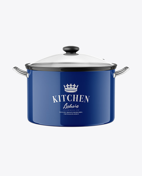 Download Glossy Cooking Pot Mockup In Object Mockups On Yellow Images Object Mockups Yellowimages Mockups