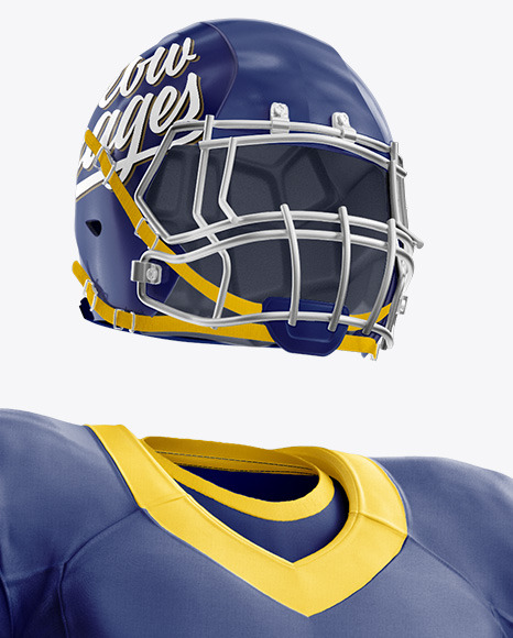 Download American Football Mockup Half Side View Yellowimages