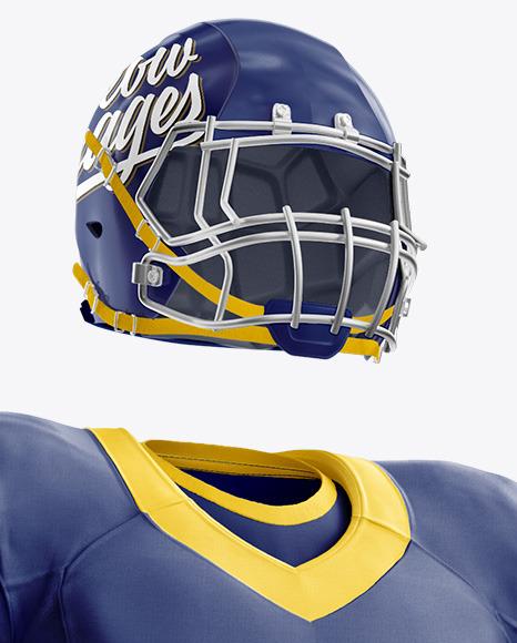 American Football Mockup - Half Side View