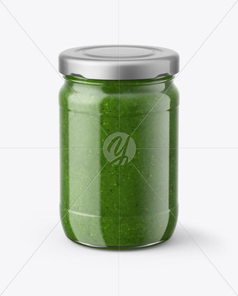 Pesto Sauce Jar Mockup