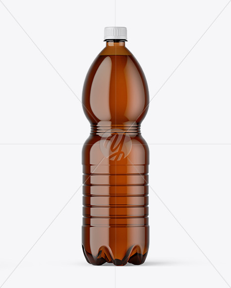 Amber PET Beer Bottle Mockup