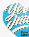 Textured Heart Shaped Card Mockup