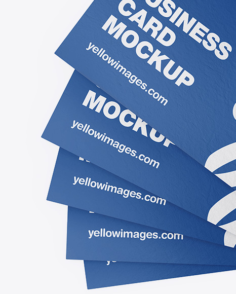 Download Paper Business Cards Mockup In Stationery Mockups On Yellow Images Object Mockups PSD Mockup Templates