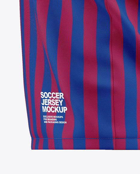 Men's Soccer Jersey Mockup - Side View