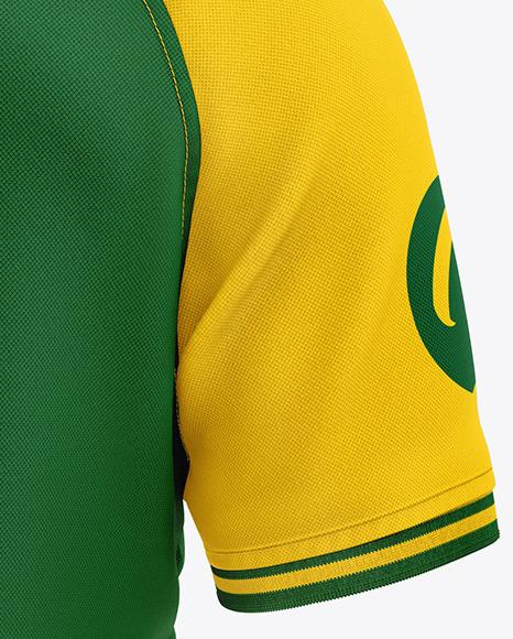 Men's Short Sleeve Polo Raglan Mockup