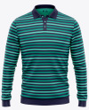 Men's Long Sleeve Polo Shirt - Front View