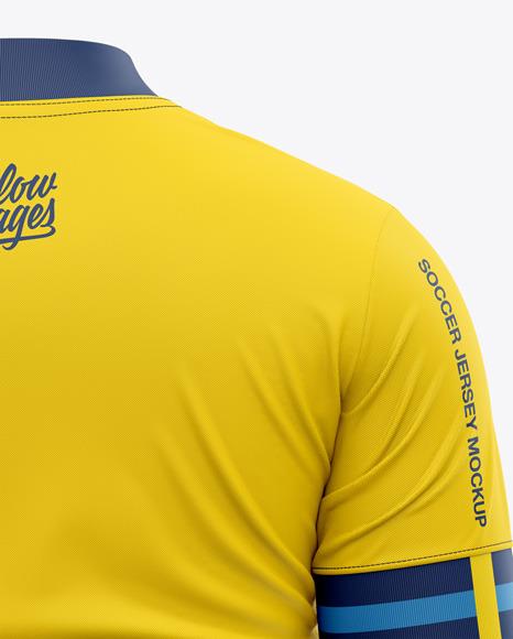 Men's Soccer Jersey T-Shirt Mockup - Back View