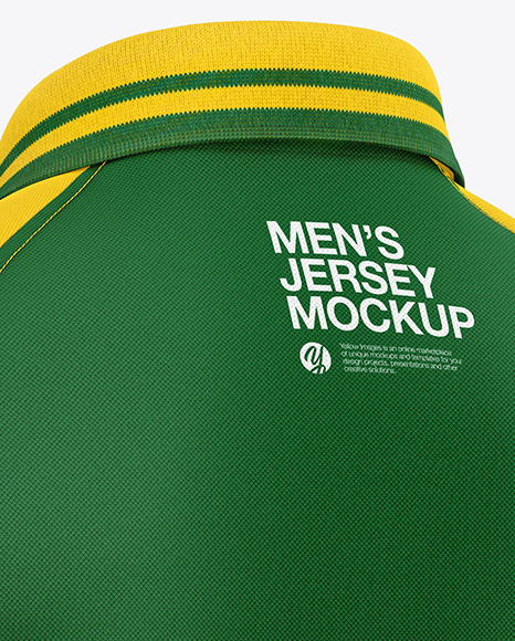 Men's Short Sleeve Polo Raglan Mockup
