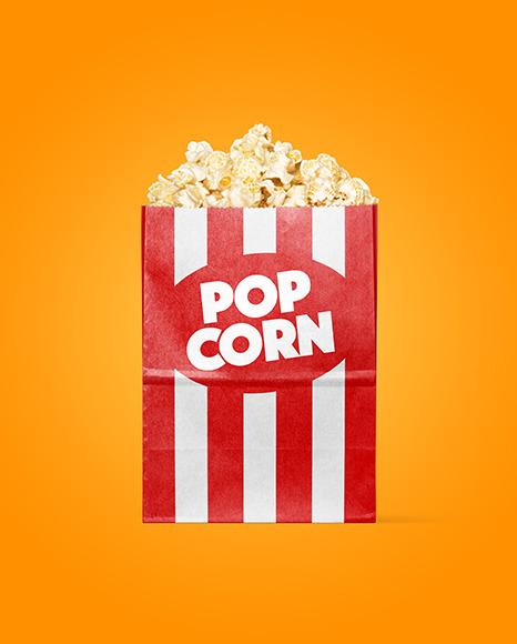 Paper Package w/ Popcorn Mockup