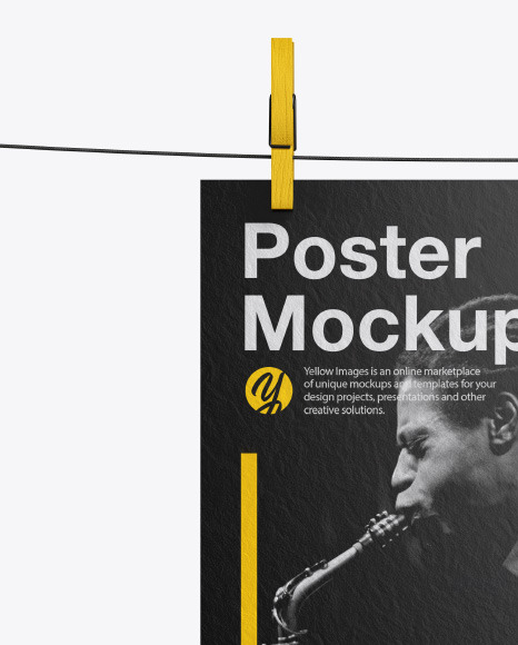 Textured A4 Poster Mockup
