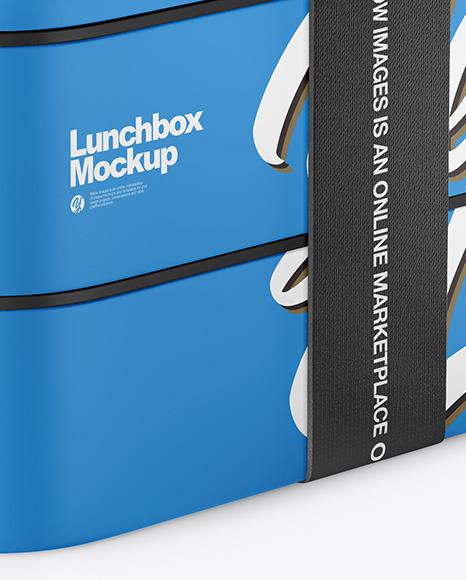 Matte Lunch Box Mockup