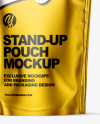 Matte Metallic Stand Up Pouch with Zipper Mockup