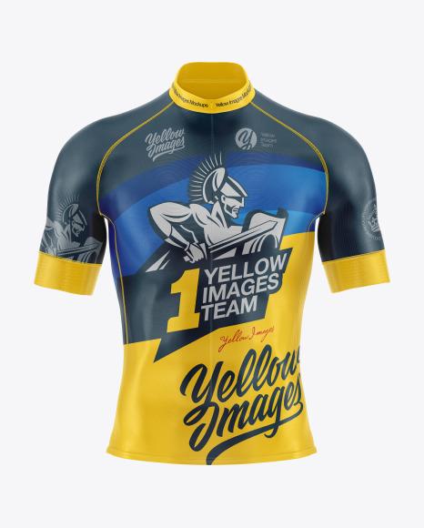 Men's Cycling Jersey Mockup