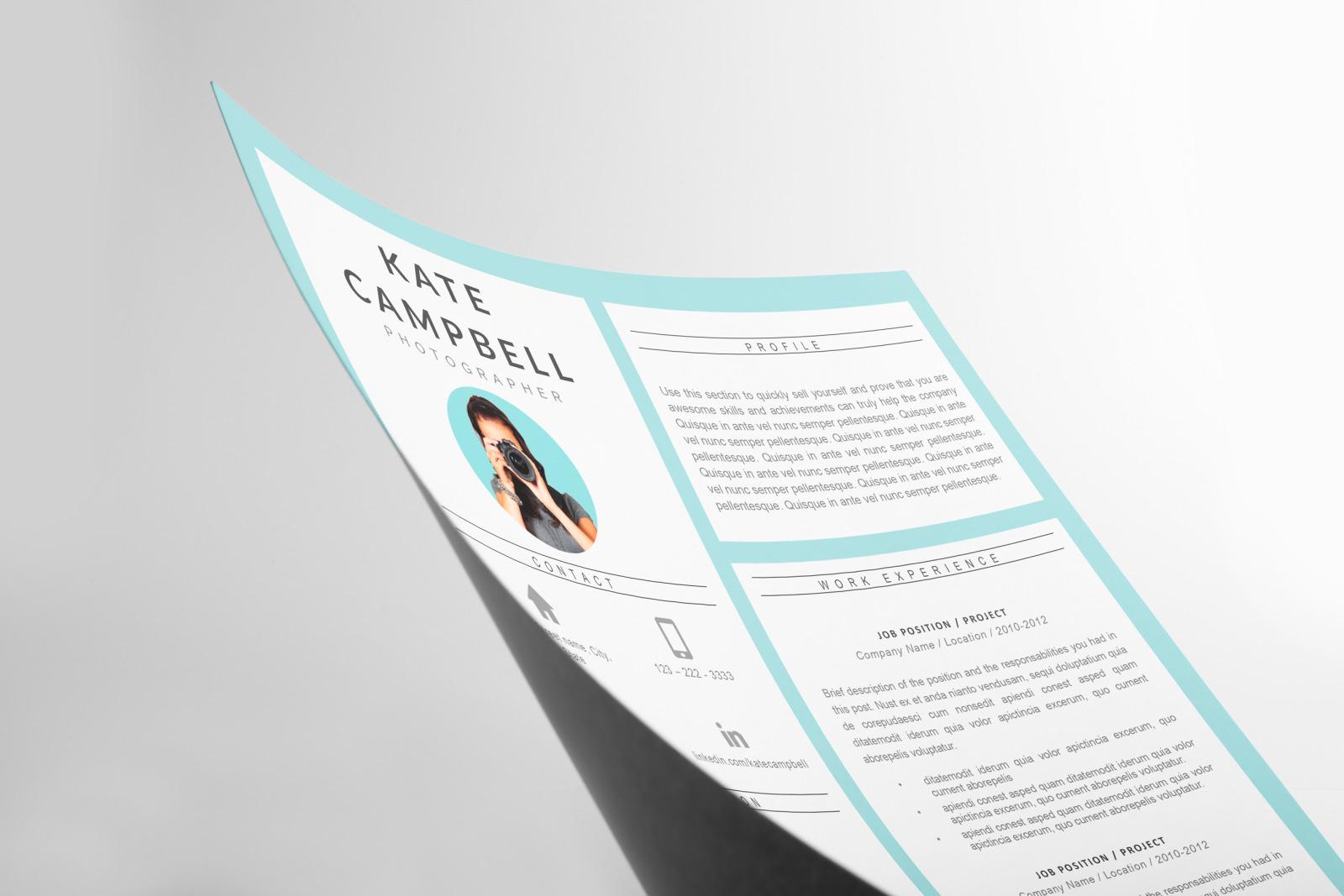 creative resume  cv design  u0026 matching cover letter