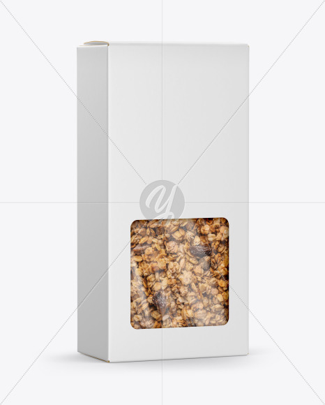 Paper Box with Muesli Mockup