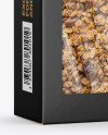 Paper Box with Muesli Mockup