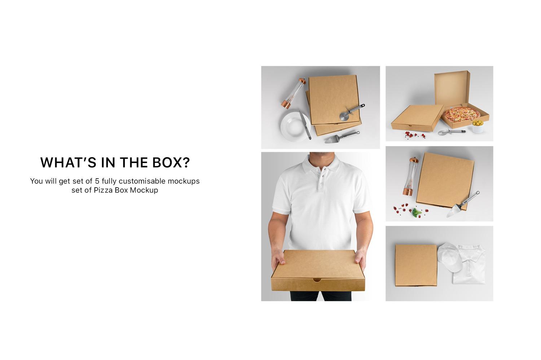 Pizza Box Mockups - Set of 5