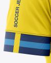 Men's Soccer Jersey T-Shirt Mockup - Front Half-Side View