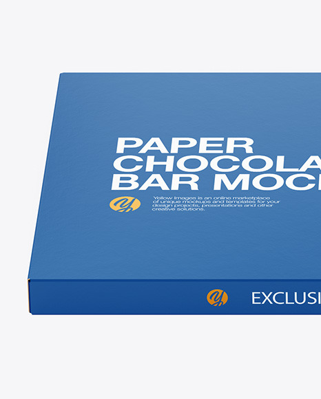 Paper Chocolate Bar Mockup