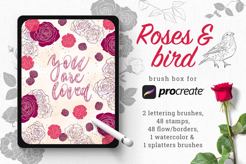 Rose brush box for Procreate